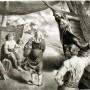 "F. Castellón, ""By the Arks"" (Por las Arcas), 1941, litografía, Ed. 250,  22,8  x  30,5 cm"