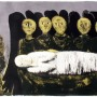 "F. Castellón, ""The Dark Angels"" ( Los Ángeles Oscuros), 1961, litografía, 10/35, 38,4  x 54,1 cm"