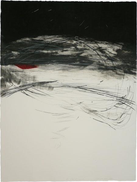 """Mapa del Horizonte"", año 2009. Aguafuerte, carborundum, punta seca. Ejemplar 10/10. Medidas: papel/imagen 80 x 60 cm"