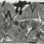 ANTONI TÀPIES. Lletres i gris, 1976. Serie: Negre i roig. Aguafuerte. Papel Guarro: 56 x 76 cm . Edición 75 + 15 HC
