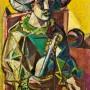 "Ginés Parra, ""Arlequín"", c. 1930 Óleo sobre lienzo, 100 X 70 cm, firmado"