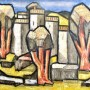 """Ginés Parra, """"Paisaje de Alba"""", c. 1950 Óleo sobre lienzo, 81 X 100 cm, firmado"""