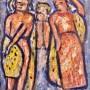"Ginés Parra, ""Danza Tribal"", 1956 Óleo sobre lienzo, 61 X 50 cm, firmado y fechado"