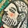 """Ginés Parra, """"Guerrero"""", 1956 Óleo sobre lienzo, 41 X 33 cm, firmado y fechado"""