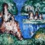 """Ginés Parra, """"Mirando el paisaje"""", c. 1950           Óleo sobre lienzo, 54 X 65 cm, s.f."""