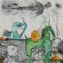 Juan Carlos Mestre, Litografi?a iluminada, 64 x 57 cm, papel superalfa 75 x 56 cm PA,  600 €