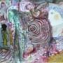 Juan Carlos Mestre, Acuarela y colllage 32,5 x 46 cm, papel superalfa 76 x 56 cm, 570 €