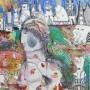 Juan Carlos Mestre, acuarela y collage 35 x 27 cm, papel 75 x 56 cm, 500  €, VENDIDA