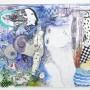Juan Carlos Mestre, acuarela y collage, 27 x 35 cm, papel 75 x 56 cm, 500 €