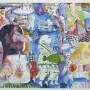Juan Carlos Mestre, Acuarela y collage 34 x 27 cm , papel Michel 75 x 56 cm, 500 €