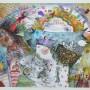 Juan Carlos Mestre, Acuarela y collage 27 x 35 cm, papel Michel 75 x 56 cm, 500 €