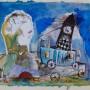 Juan Carlos Mestre, acuarela, 18 x 22 cm, papel superalfa 75 x 56 cm 450 €