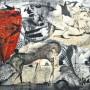 Juan Carlos Mestre, aguafuerte y collage iluminado, 75 x 56 cm, papel superalfa 75 x 56 cm, 800  € VENDIDO