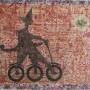 Juan Carlos Mestre, La bicicleta del panadero, aguafuerte y aguatinta, 76 x 56 cm, papel superalfa 75x56 cm 1/1 700 €