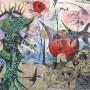 Juan Carlos Mestre, Litografi?a y collage 70x 49 cm, papel superalfa 75 x 56 cm, 1/1 800 €