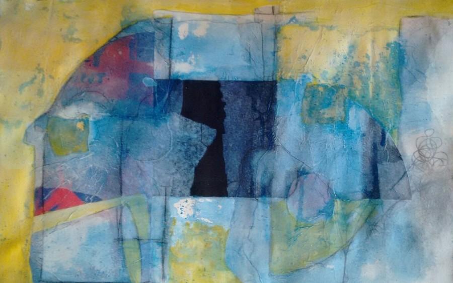 SAFI, Itsmos I, 2015, 32,2 x 49,5 cm, técnica mixta sobre papel