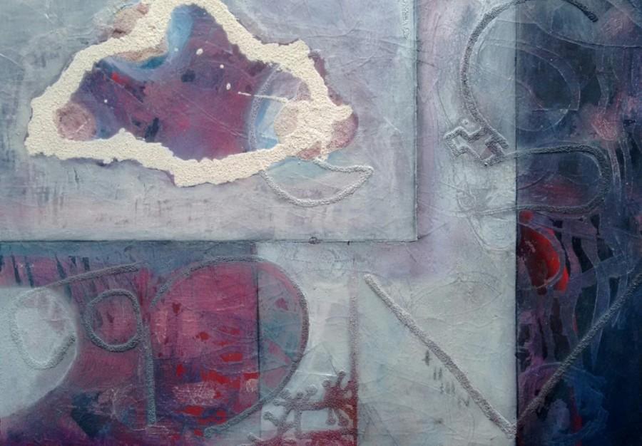 SAFI, Nube enmarcada, 2015,  39,5 x 49,5 cm, técnica mixta sobre papel
