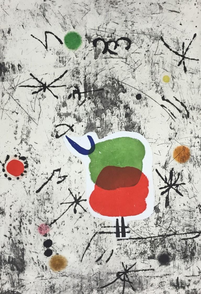 Joan Miró, Serie Personatges I Estels: Plate 1979, 1979, aguafuerte y aguatinta, 91 X 64 cm, 41/50