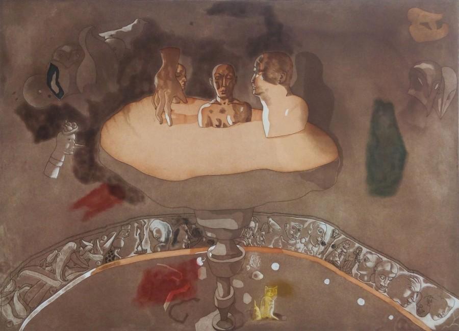 Jorge Castillo, aguafuerte y  aguatinta, 1991, imagen 86 X 118 cm, papel 97 x 131 cm, 4/60