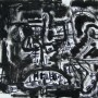 10 Exhumacion sobre las fabulas, acrilico y tinta sobre papel, 21 x 17 cm