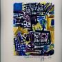 17 El profeta en el bosque II, acrilico, guache sobre papel, 14 x 18 cm