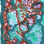 19 Los animales falsos II , x , tinta,pastel y guache sobre papel, 17 x 21 cm