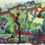 2 Jardin, guache y acrilico sobre papel 47 x 32 cm
