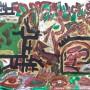 3 El juicio de Marcias acrilico y tempera sobre papel, 40 x 30 cm