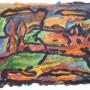 4 Jardin 2, guache y acrilico sobre papel 47 x 32 cm 2015