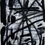 7 Exhumacion de la fabula, tinta y acrilico sobre papel,12 x 21 cm