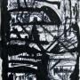 8 Exhumacion de la fabula, acrilico y tinta sobre papel, 13 x 21 cm