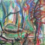 A7.- El profeta en el bosque_ pastel sobre tela 30 x 209 cm 2016, (Medium)