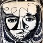Pituco. -Cabeza.(1961) Técnica mixta sobre papel. 47,5 x 32.5cm.  p.v.p obra enmarcada: 1250  € + IVA =1512.5 €