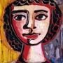 Pituco. Cabeza. Década 1950. Óleo sobre papel. 30 x 25 cm  p.v.p obra enmarcada: 1400  € + IVA = 1694 €