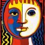 Pituco.  Cabeza de mujer. Óleo sobre cartón. 33,7 x 25,4 cm. Firmado Pituco (esquina inferior derecha).  p.v.p obra enmarcada: 1300  € + IVA = 1573 €