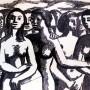 Pituco. Grupo de mujeres. 1960-1965 Tinta sobre papel fotográfico. 21,4 x 28 cm. p.v.p obra enmarcada: 575  € + IVA = 695.75  €