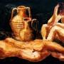 Pituco. Desnudos con cántaros (1987) Técnica mixta sobre cartulina. 55,5 x 50 cm.  p.v.p obra enmarcada: 575  € + IVA =694.54 €