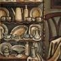 Pituco Alacena con vajilla. 1954. Óleo sobre lienzo 140x 100 cm. p.v.p obra enmarcada: 7500€ + IVA = 9075 €