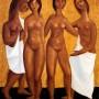Pituco. Cuatro Marías. ( 1972-1975) Óleo sobre lienzo. 61 x 50 cm p.v.p obra enmarcada: 4500  € + IVA = 5445 €