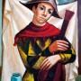 Pituco. Arlequín con guitarra. Década 1970. Óleo sobre lienzo. 81 x 60 cm. Firmado Pituco. (esquina inferior derecha). p.v.p enmarcada:6500  € + IVA = 7865  €