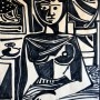 Pituco. Desnudo femenino. (c. 1961) Tinta sobre papel. 39,5 x 31 cm. p.v.pobra enmarcada: 1250  € + IVA =1512.5 €