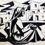Pituco. Mujer de La Chanca. (1960) Tinta sobre cartulina. 21.3 x 30.3 cm. Tinta sobre cartulina. p.v.p obra enmarcada:1 150  € + IVA = 1391.5  €