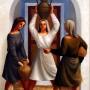 Pituco.Tres mujeres con cántaros.1989. Óleo sobre lienzo 65 x 46 cm. p.v.p enmarcada: 4500  € + IVA = 5445 €