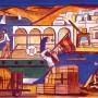 Pituco. Puerto de Almería. (1965-1968)Técnica mixta sobre cartulina. 19,5 x 28,8 cm. Firmado Pituco. (esquina inferior derecha). p.v.p obra enmarcada:1 400  € + IVA = 1694  €