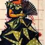 Pituco Gitana. Técnica mixta sobre papel. Década 1970 24,4 x 12,6 cm.  p.v.p obra enmarcada: 550 € + IVA = 665.5 €