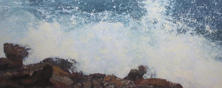 Connie Westendorp, 2017, Técnica mixta sobre lienzo, 54 x 134 cm