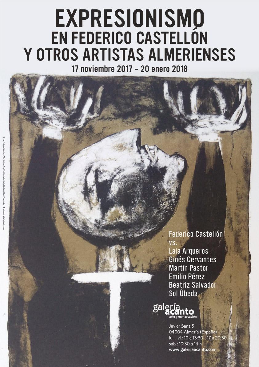 obra del cartel: Federico Castellón, The Suplicant, c.1962, litografía, 53,5 x 36,4 cm, 11/28