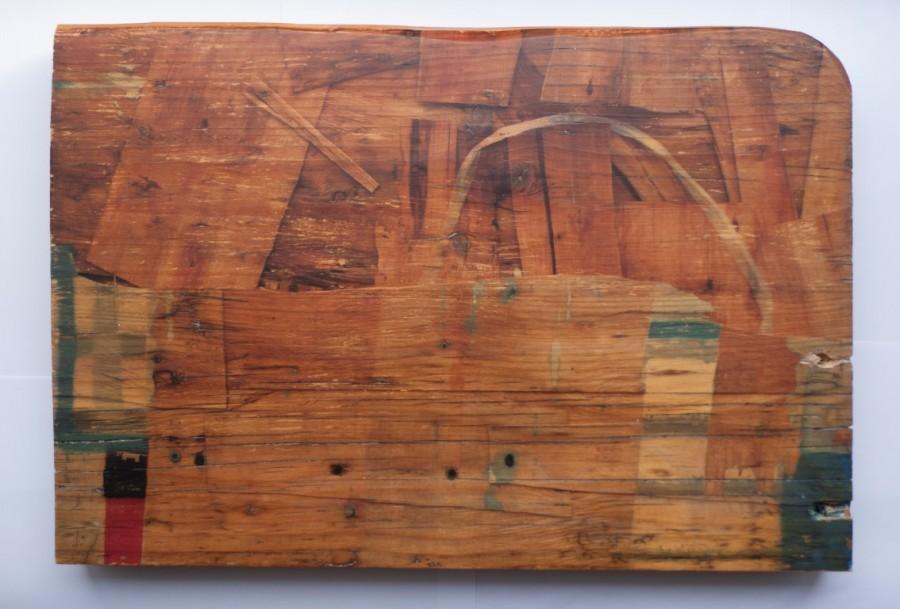 Karlos Kaplan, Sin título, Serie Ruptura, 2016-2017. Fotografía, transferencia sobre madera antigua, 30 x 44 cm. Pieza única, edición sobre diversas maderas 3 ejemplares