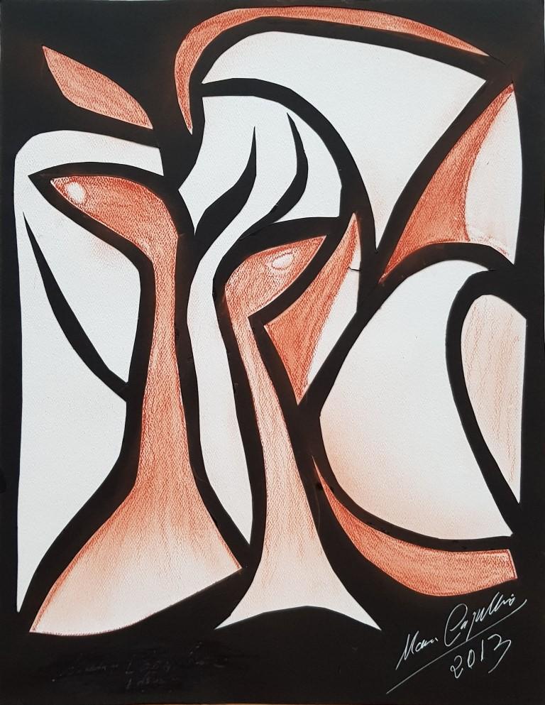 María Capulino, Retazos 23, 2013, técnica mixta sobre cartulina, 32 x 25 cm