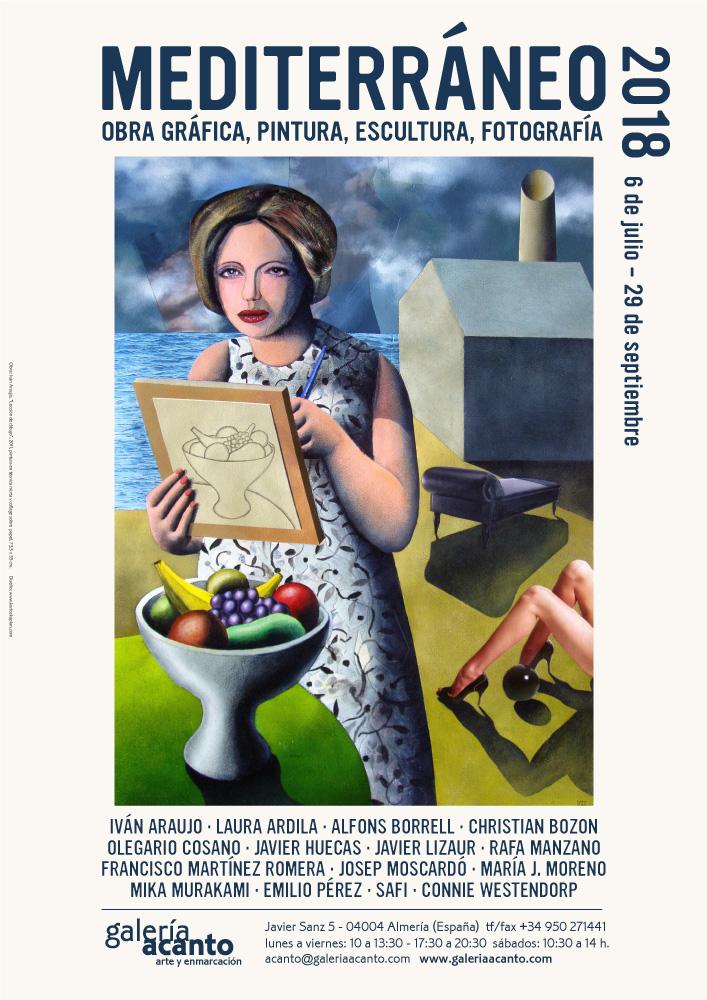 Imagen Cartel: Iván Araujo, Lección de dibujo, 2011, pintura en técnica mixta y collage sobre papel, 73,5 x 55 cm